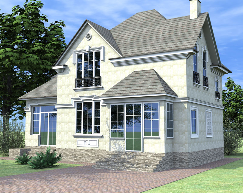 проектирование фасада дома