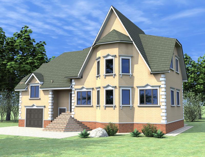 архитектурный дизайн фасада особняка