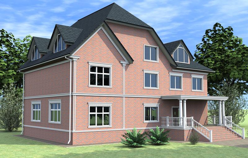 трёхмерное проектирование фасада