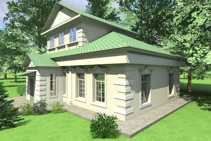 Дизайн фасада с помощью лепнины