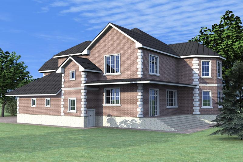 архитектурный проект фасада дома