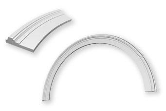 наличник для окна ии двери - арка, архитектурный элемент из полиуретана (ппу)