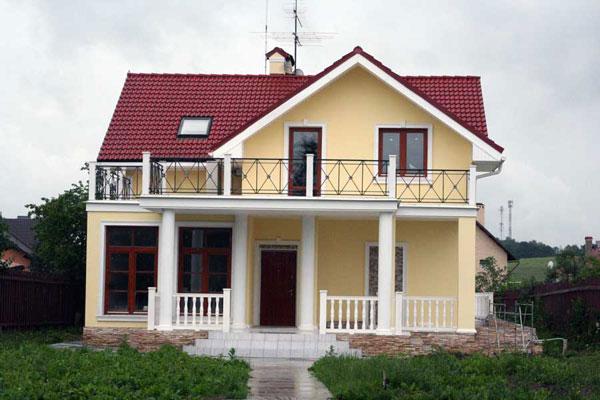 дом с колоннами, балюстрадами
