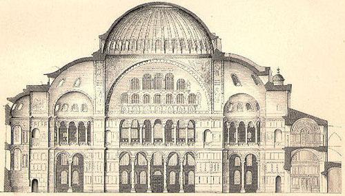 Крестово купольный храм схема