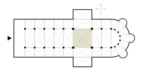 План трёхнефного собора с