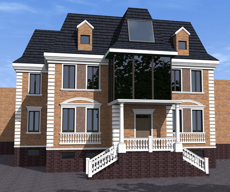 Отделка фасадов домов с газобетона