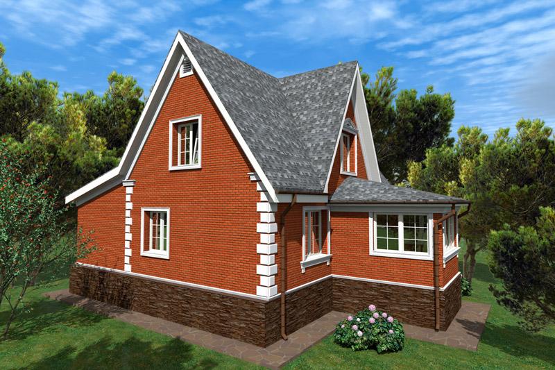 проект фасада дома, оформление рустами, молдингами, карнизами, фронтон, вентиляционная решетка