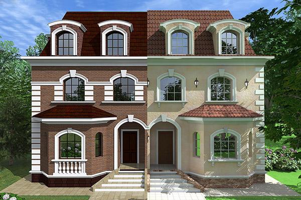 проекты декора фасадов с применением лепнины из полиуретана, как оформить фасад загородного дома