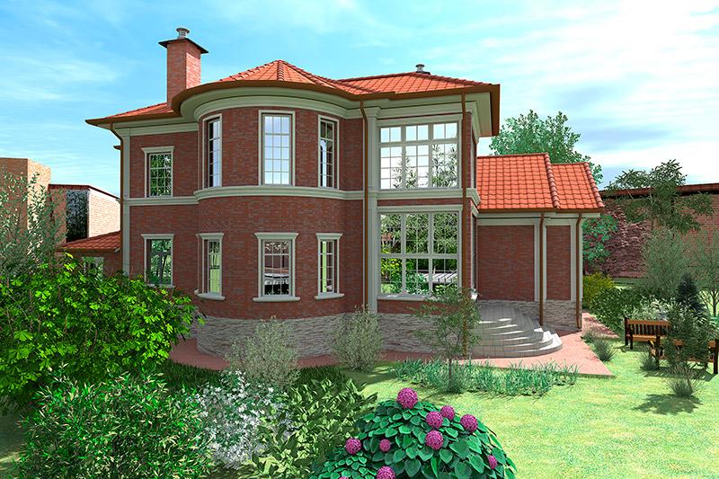 дизайн загородного дома в английском стиле, как оформить дом лепниной - проект