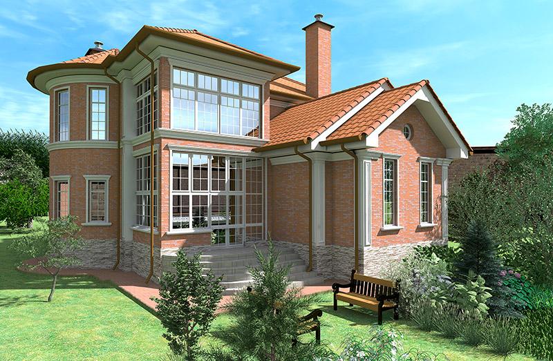 проектирование частного дома с большими окнами, как сделать декор фасада, оформление окон декоративными элементами из полиуретана