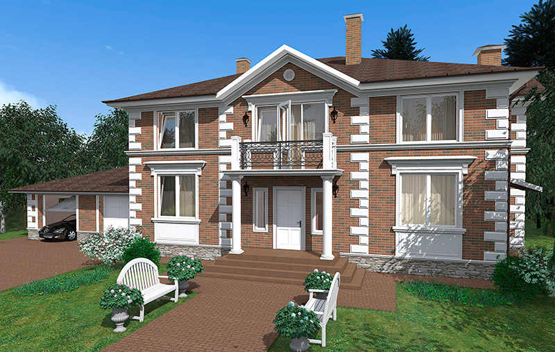 Дом с лепниной и без неё - примеры проектов оформления внешн.
