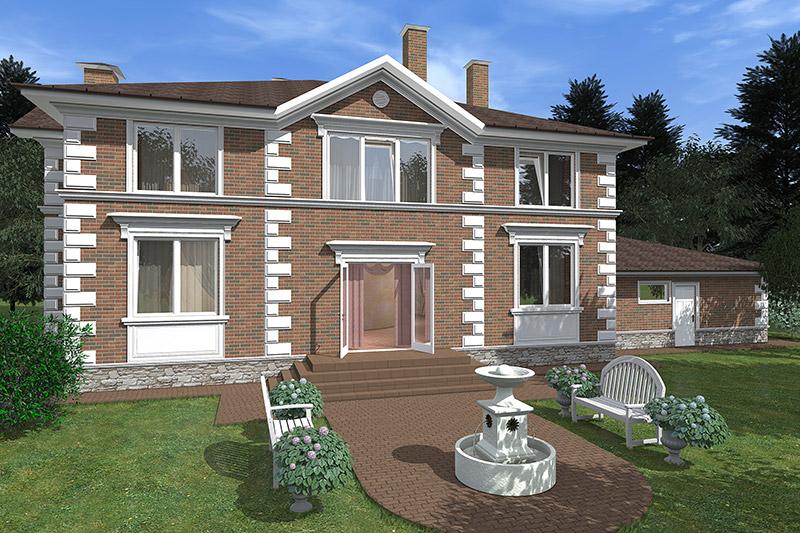 ремонт фасада с применением лепнины, как украсить свой дом, проект дизайна передней части дома