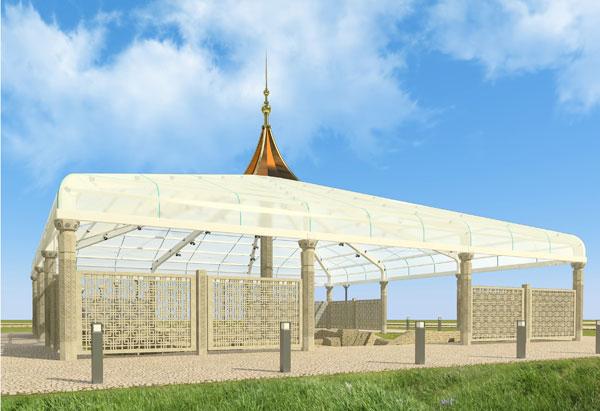 Проект шатра ханского дворца в Болгаре
