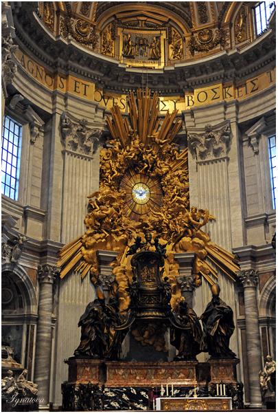 Кафедра Святого Петра в Соборе Святого Петра, Беринини скульптор католического Рима, фотографии Ватикана