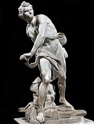 скульптура Давид, скульптор Бернини, стиль барокко, динамизм в мраморной скульптуре