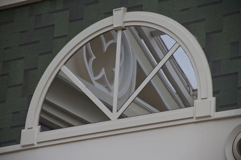 Оформить полукруглое окно