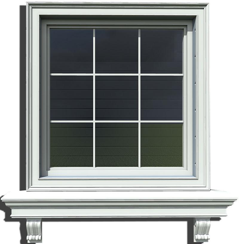 оформление оконной группы - наличник на окно