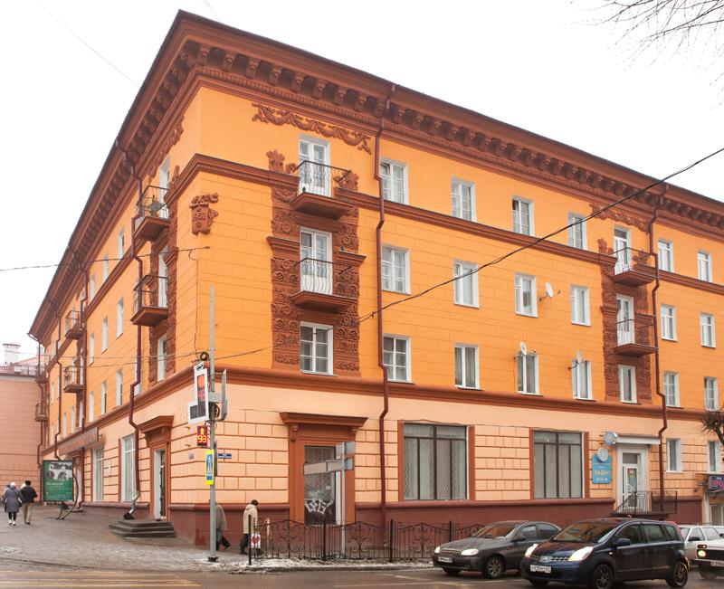 Архитектура Смоленска, неоренессанс, лепнина, Большая Советская улица 39/11, фото домов, памятник архитектуры