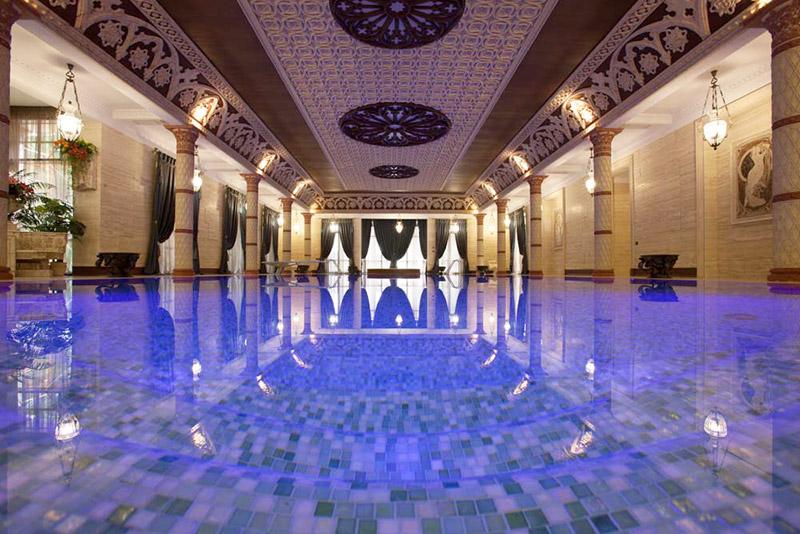 орнамент в интерьере, красивый бассейн, декоративные элементы из полиуретана, как сделать красивый интерьер, декор для интерьера бассейна и бани