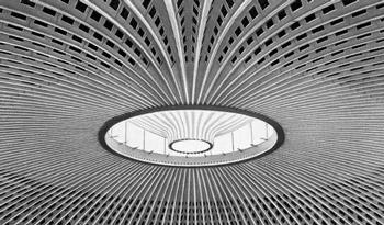 дворец спорта в Риме, купол из армоцемента, железобетонные конструкции, жби изделия