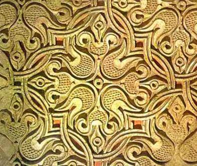 ганч - материал из гипса и глины, резьба по ганчу,  фото декор стен