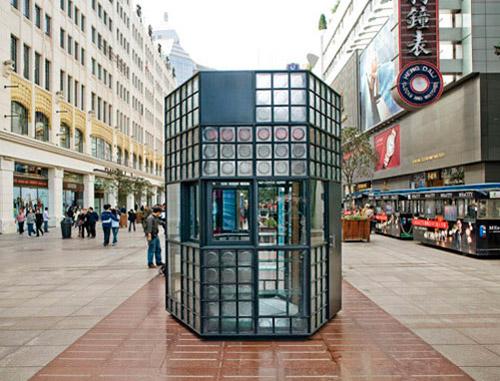 киоск, лерёк, современная архитектура, стекло в фасаде, фото торгового павильона, словарь архитектурных терминов