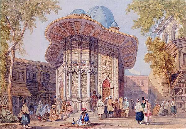 киоск в Константинополе, 19 век, торговый павильон, лёгкая постройка, беседка