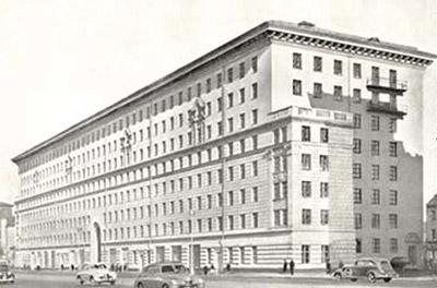 жилой дом на Большой Калужской, автор Жолтовский, архитектура 50-х годов, московские улицы, проект в неоклассическом стиле