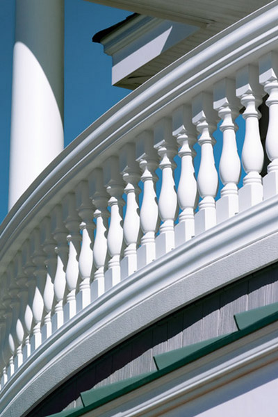 элементы балкона из полиуретана, перила и балясины, классический ренессансный балкон