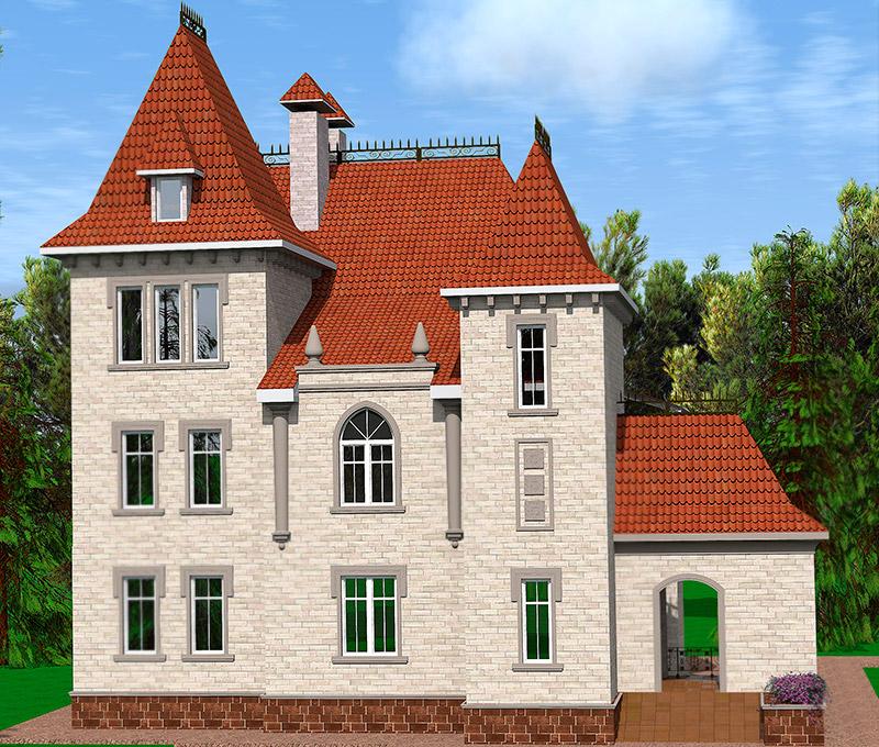 как сделать проект дома, заказать дизайн-проект, лепнина из полиуретана, полиуретан в оформлении фасада, мансардная крыша